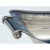 Handle to Lewis & Smith Antique Coin Silver Bread Basket, Philadelphia, 1805-1810