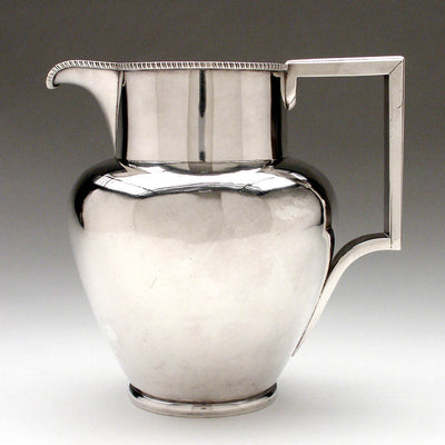 William Seal American Federal Coin Silver Water Pitcher, Philadelphia, c. 1810-22, ex. collection: Sam Wagstaff