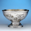 Tiffany & Co. Extremely Rare and Fine Sterling and Parcel Gilt Aesthetic Movement Salad Bowl in the Japanese Taste, c. 1883