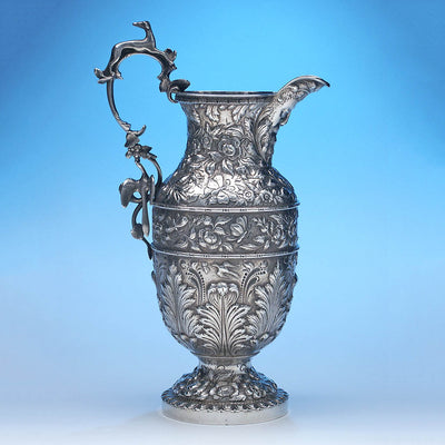 Reverse side of Samuel Kirk Silver 'Gilmor' Type Massive Ewer, Baltimore, c. 1840