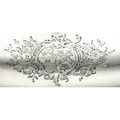 Crest on Pair of George II English Sterling Silver Double-lipped Sauce Boats, Thomas Heming, London, 1759/60
