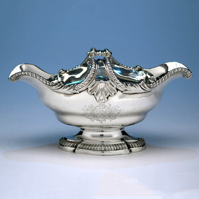Single example of Pair of George II English Sterling Silver Double-lipped Sauce Boats, Thomas Heming, London, 1759/60