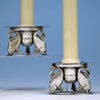 Erik Magnussen for Gorham Sterling Silver Figural Candle Holders, 1928