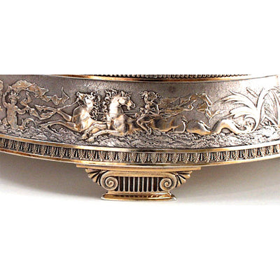 Detail of Gorham Aesthetic Antique Sterling Silver Bonbon Basket, Providence, RI, 1874