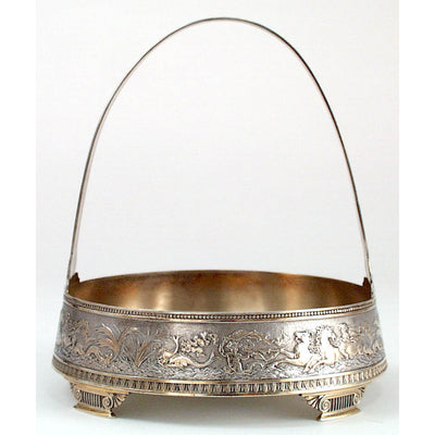 Gorham Aesthetic Antique Sterling Silver Bonbon Basket, Providence, RI, 1874