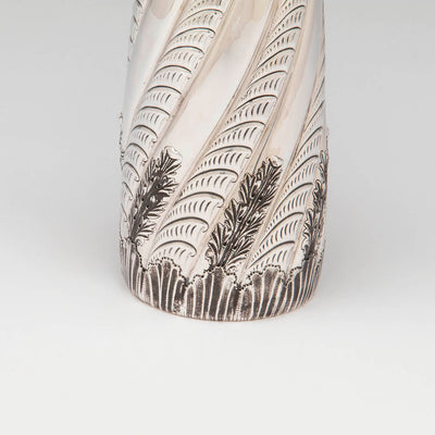 Base detail of the Gorham Antique Sterling Silver Champagne Pitcher, Providence, RI, 1887