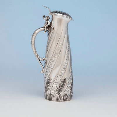 Gorham Antique Sterling Silver Champagne Pitcher, Providence, RI, 1887