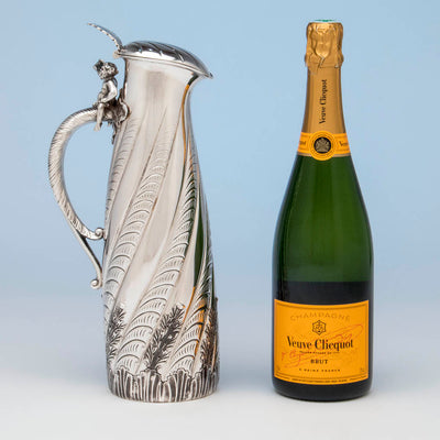 Ready for action - Gorham Antique Sterling Silver Champagne Pitcher, Providence, RI, 1887