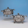 The McCall Family Pair of English Antique Sterling Silver Sauce Tureens by John Wakefield, London, 1820/21