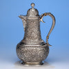 Tiffany & Co Antique Sterling Silver Persian-style Hot Milk Jug, New York City, 1883
