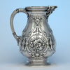 William Gale for Tiffany & Co Antique Sterling Silver Pitcher, New York City, c. 1850's