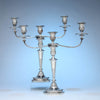 S.C. Younge & Co Pair of English Antique Sterling Silver Candlesticks, 1803/04 with Antique Sheffield Plate Branches