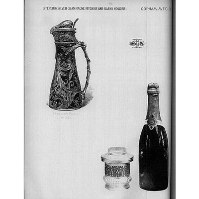 Gorham Catalog photo of Gorham Antique Sterling Silver Champagne Pitcher, Providence, RI - 1886