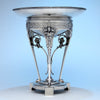 Gorham Mfg. Co. Antique Coin Silver Figural Centerpiece or 'Fruit Stand', Providence, RI, c. 1867