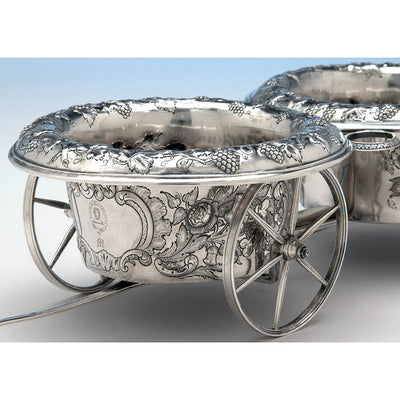 Front of Francis W. Cooper American Coin Silver Wine Wagon or Trolley, New York City, 1849-54