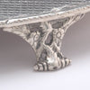 Foot detail of S. Kirk & Son 11oz Silver Footed Salver or Tray Bearing the arms of John Hanson Thomas, c. 1859