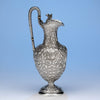 Lewis E. Jenks Antique Sterling Silver Hot Milk Jug, Boston, 1872-75