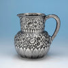 Tiffany & Co Repoussé Antique Sterling Silver Water Pitcher, 1870-91