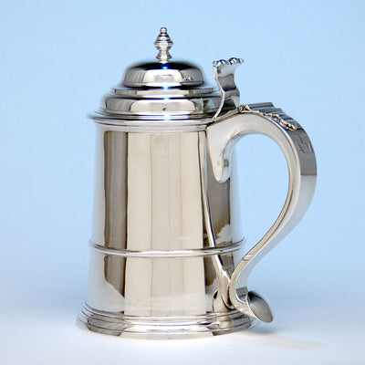 Handle to James T. Woolley Arts & Crafts Sterling Silver Covered Tankard, Boston, early 20th century