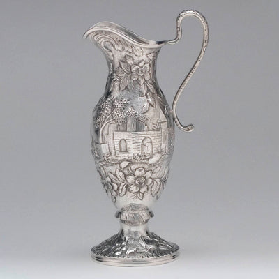 Creamer of the S. Kirk & Son 'Etruscan' ('Landscape' or 'Castle') Pattern 4-piece Coffee or Tea Service, c. 1855-61