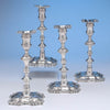 John Priest English Sterling Silver Candlesticks - set of 4, London, 1752/53