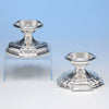 Arthur Stone Pair of Sterling Silver Master Salt Dishes, Gardner, MA, c. 1922-32