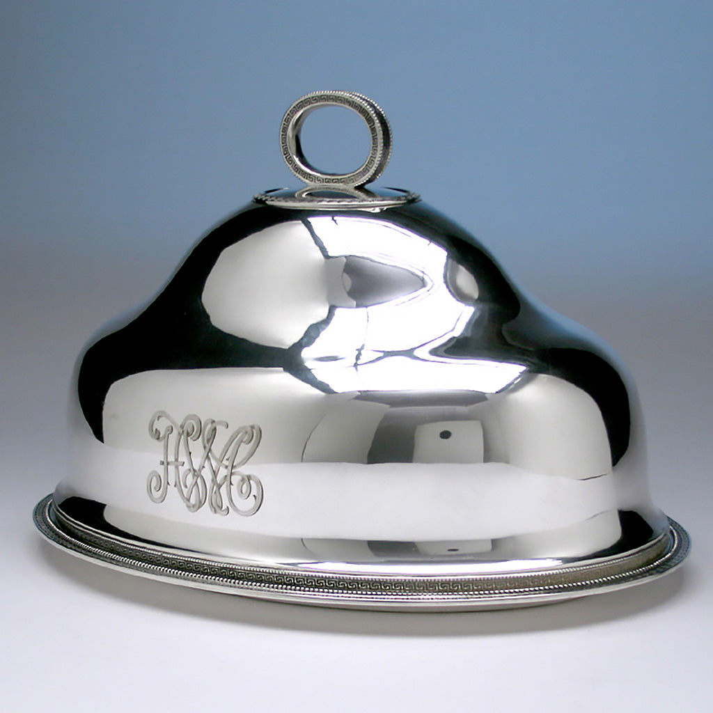 Tiffany & Co Sterling Silver Serving Platter with Dome, 1856-70