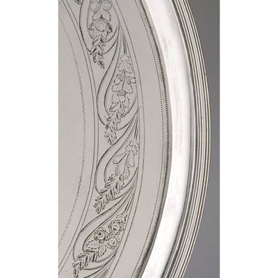 Engraving on Thomas Warner - The Hollingsworth/ Morris Family Large Round American Silver Tray, Baltimore, c. 1805