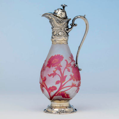Gorham Sterling Mounted Daum Nancy Decanter, Providence, RI, 1886