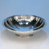Arthur Stone Arts & Crafts Sterling Silver 'Woolsey' Large Centerpiece Bowl, Gardner, MA c. 1920