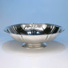Side view of Arthur Stone Arts & Crafts Sterling Silver 'Woolsey' Large Centerpiece Bowl, Gardner, MA c. 1920