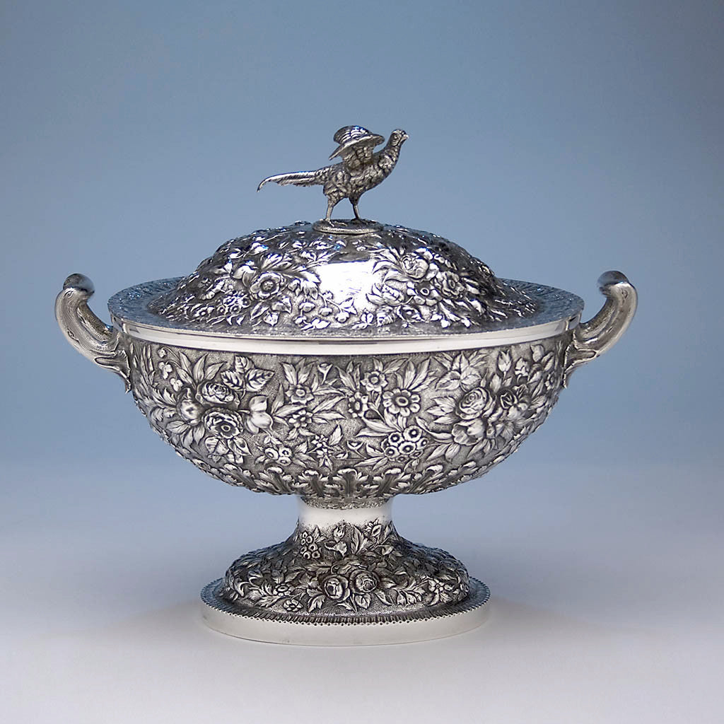S. Kirk & Son Repoussé 11oz Silver Covered Soup Tureen, c. 1870-80