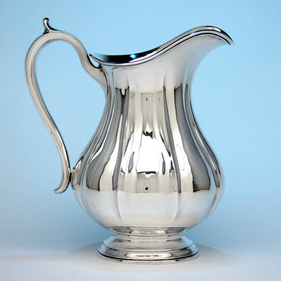 Arthur Stone Associates Arts & Crafts Sterling Silver 'Fluted' Water Pitcher, c. 1930's