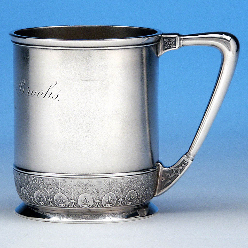 Bigelow, Kennard & Co. Antique Sterling Silver Child's Cup, Boston, MA, c. 1874