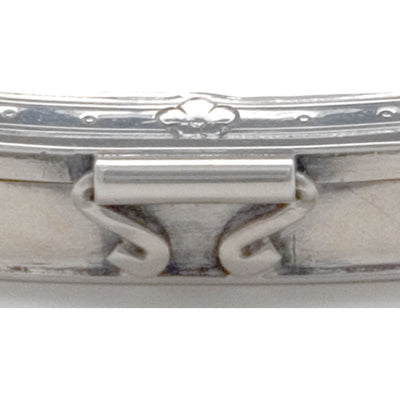 Hinge on Arthur Stone Sterling Silver Arts & Crafts Pill Box, Gardner, MA, c. 1915