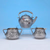 Whiting - The Bowers/ Taft Family Aesthetic Movement Sterling Silver and Mixed-Metal Tête-à-tête Tea Service, c. 1887