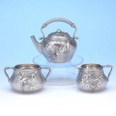 Reverse side of Whiting - The Bowers/ Taft Family Aesthetic Movement Sterling Silver and Mixed-Metal Tête-à-tête Tea Service, c. 1887