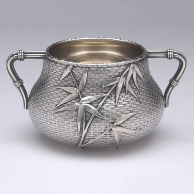 Suar bowl of Whiting - The Bowers/ Taft Family Aesthetic Movement Sterling Silver and Mixed-Metal Tête-à-tête Tea Service, c. 1887