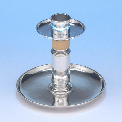 Top view of M.T. Wetzlar German Silver Candle Stick, Munich, c. 1910