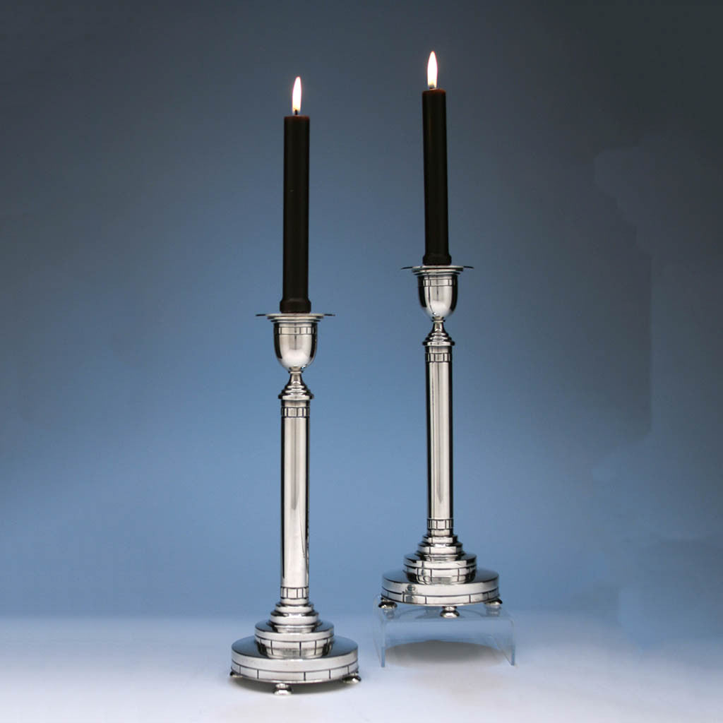Erik Magnussen For Gorham Modern American Sterling Silver Candle Sti Spencer Marks Ltd