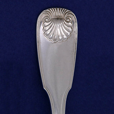 Detail of Fletcher & Gardiner Antique Coin Silver Flatware Service, Philadelphia, PA, 1820-25
