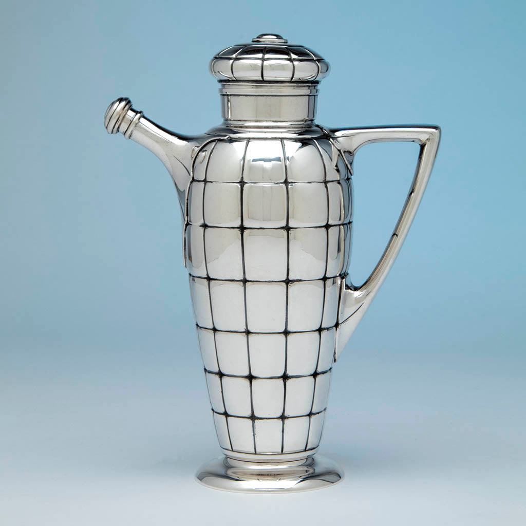 Gorham Art Deco Sterling Silver Cocktail Shaker, Providence, RI, 1928