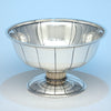 Erik Magnussen for Gorham Sterling Silver & Ivory Art Deco Centerpiece Bowl, Providence, 1928/29