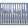 Paul Storr English Sterling 'King's Hour Glass' Pattern Dessert (or fish or fruit) Knives by, London, 1814/15 – set of 12