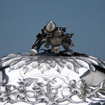 Cover handle to Jones, Ball & Co Coin Silver Large Covered Soup Tureen, Boston, 1853-55
