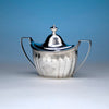 Hugh Wishart Antique Coin Silver Covered Sugar Bowl, New York, c. 1800