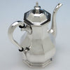 Top view of Obadiah Rich & Benjamin Franklin Willard Rare Antique Sterling Silver Coffee Pot, 1846-47