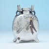 Tiffany and Co Japonesque Mixed Metals Moon Flask Vase, NYC, NY, c. 1878