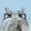 Handles to Tiffany and Co Japonesque Mixed Metals Moon Flask Vase, NYC, NY, c. 1878