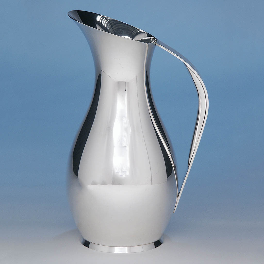 Tiffany Moderne Sterling Silver Water Pitcher or Ewer, New York City, c. 1952